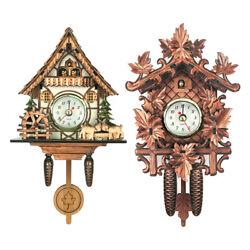 2pcs Antique Design Cuckoo Clock Quarz Movement Wall Clock Decorative Crafts