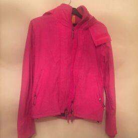Women's pink superdry coat
