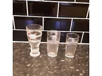 1 pint 16 oz &,12 oz glasses