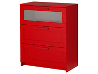 ikea red brimmes chest of drawers
