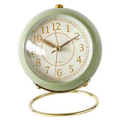 Modern Analog Alarm Clock Bedside Analog Alarm Clock Battery Powered Green