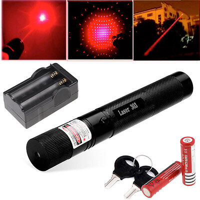 Military High Power Red Laser Pointer Pen G303 650nm Burn Lazer+2*18650+Charger on Rummage