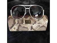 4 pairs designer sunglasses STORM SISLEY and WAREHOUSE and RIVER ISLAND aviators all NEW
