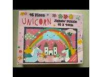 Unicorn Jigsaw puzzle 45 pieces age 3+ NEW