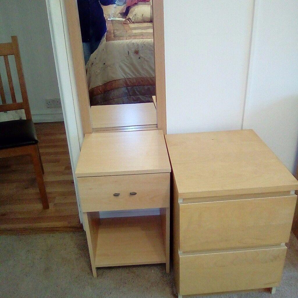 set of bedroom drawers Malm
