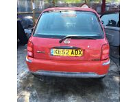 2002 Nissan Micra S Damaged Still drives well