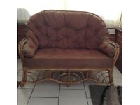Cane wicker sofa chairs settee furniture conservatory