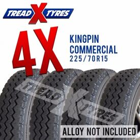 4x 225/70R15 C Kingpin Van Tyres 225 70 15 8ply Fitting Available 225/70r15C x4