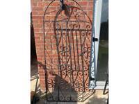 Wrought iron garden gate grey