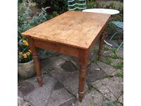 Old Pine Farmhouse Kitchen Table