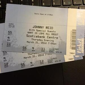 2 Johnny Reid Tickets