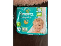 Pampers baby dry nappies size 7, 30 nappies £5