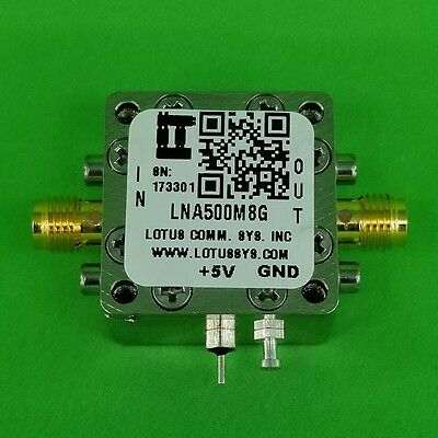 Broadband Low Noise Amplifier 1.3db Nf 0.58ghz 21db Gain 20dbm P1db Sma
