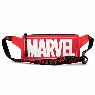 LOUNGEFLY MARVEL RED BRICK LOGO WAIST/SLING BAG - MVTB0093 - NEW WITH TAGS