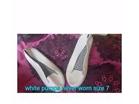 White pumps