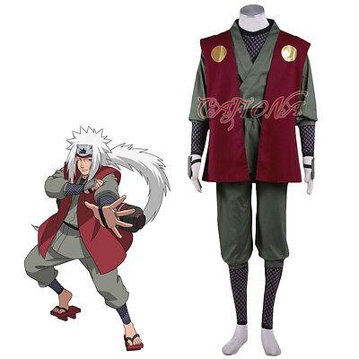 Cafiona Cheap Anime Naruto Jiraiya Cosplay Costume Halloween Outfits Custom - Naruto Costumes Cheap