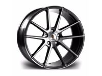 "x4 20"" Stuttgart ST9 Alloys Staggered Fits Bmw 3 4 5 6 Series Gunmetal Polish"