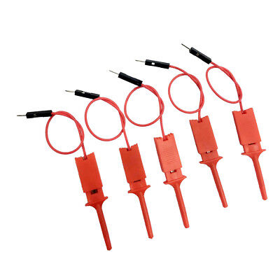 5 Pcs High Quality Logic Analyzer Cable Probe Test Hook Clip Line Red
