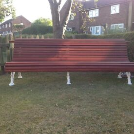 Refurbished Coalbrookdale Serpentine Garden Bench