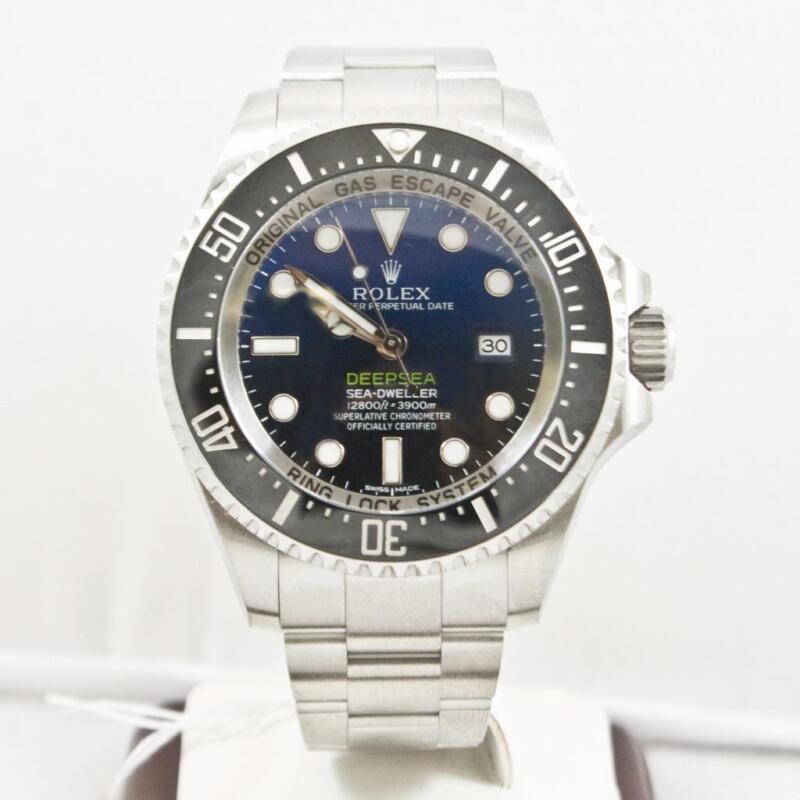 Rolex 44mm Deep Sea Dweller Model 116660 Blue & Black Dial Ceramic Bezel