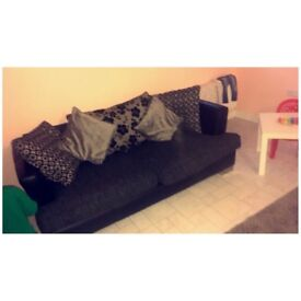 Lovely Condition Black Sofa