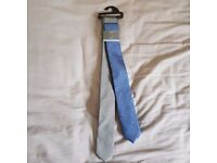 Mark and Spencer M&S Gents Mens Limited Edition Mix Two Blue Tie 2 Set New