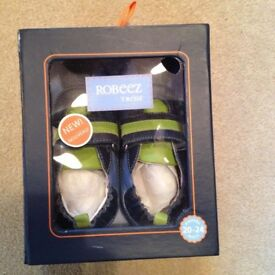 Brand new (still in box) pair of boys shoes, age 20-24 months