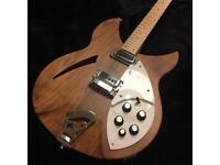 RICKENBACKER 330 / 12 string walnut electric guitar with Hard case