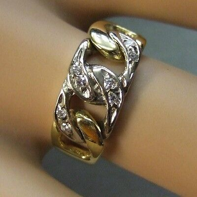 18 ct gold second hand  diamond link ring