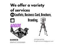 Graphics Design, Leaflets, Business Card, Brochure, Branding, Filming, Editing.
