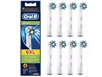 Oral B CROSS ACTION Electric Toothbrush Heads BRAND NEW