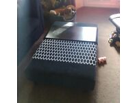Large footstool/coffee table black