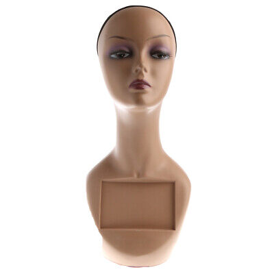 Female Mannequin Head Bust Wig Hat Display Model Stand With Net Cap.