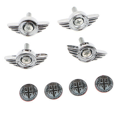 4 Pieces Universal Car Anti-Theft License Plate Fasteners Bolts Screw Type 4