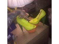 Brand new multi colour high heels