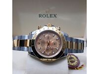 New TwoTone Gold Dace Rolex Daytona Cones Rolex Bagged and Boxed with Paperwork