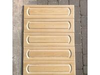 Solid limed oak drawer fronts 750 x 200mm and handles