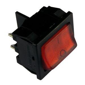 wippschalter h8653vbnbm schalter 2 polig ein aus 10a 250v rot beleuchtet 855230 ebay. Black Bedroom Furniture Sets. Home Design Ideas