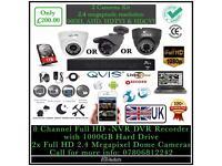 2 Cameras Full HD 1080p CCTV KIT | QVIS FULL HD 2.4 Megapixel Cameras | 12 Months UK Warranty |