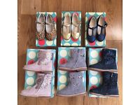 *MINI BODEN* NEW AND UNWORN CURRENT SEASON KIDS SHOES / SLIPPERS / BOOTS / SIZE 24 (8 PAIRS)