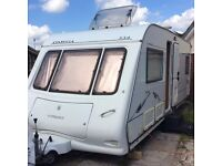COMPASS OMEGA 534 CARAVAN 4/5 BERTH FIXED BED EXCELLENT CONDITION