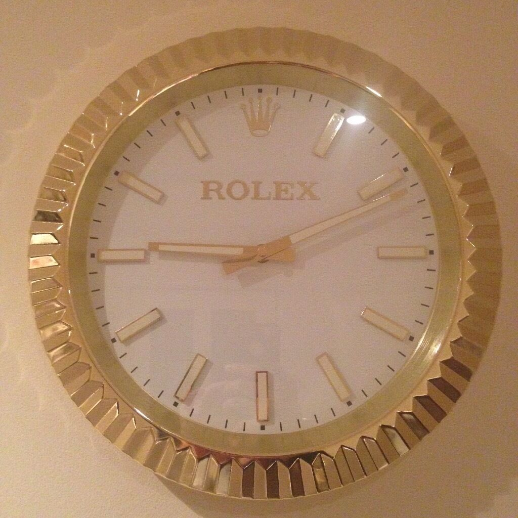 Rolex wall clock large size metal clock in bradford west rolex wall clock large size metal clock amipublicfo Image collections