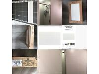 2 boxes of unopened designer wall tiles: total coverage 2 metres sq