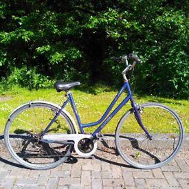 MGI Lowlander Womens' Commuter Dutch-Style Bike Blue City Bicycle