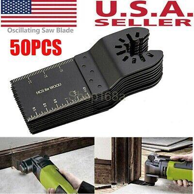 50 Pack Saw Blades 34mm Oscillating Multi Tool Cutter Universal For Bosch Dewalt