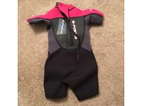 Wet suit and shoes for toddler