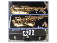 Jupiter alto saxophone with mouthpiece and case