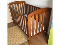 John Lewis Rachael cot - antique wood