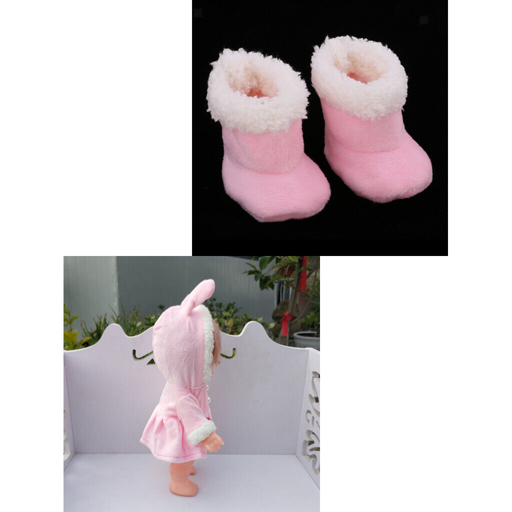 Cute Overcoat & Boots for Mellchan 9-11inch Reborn Baby Girl Dolls Clothes
