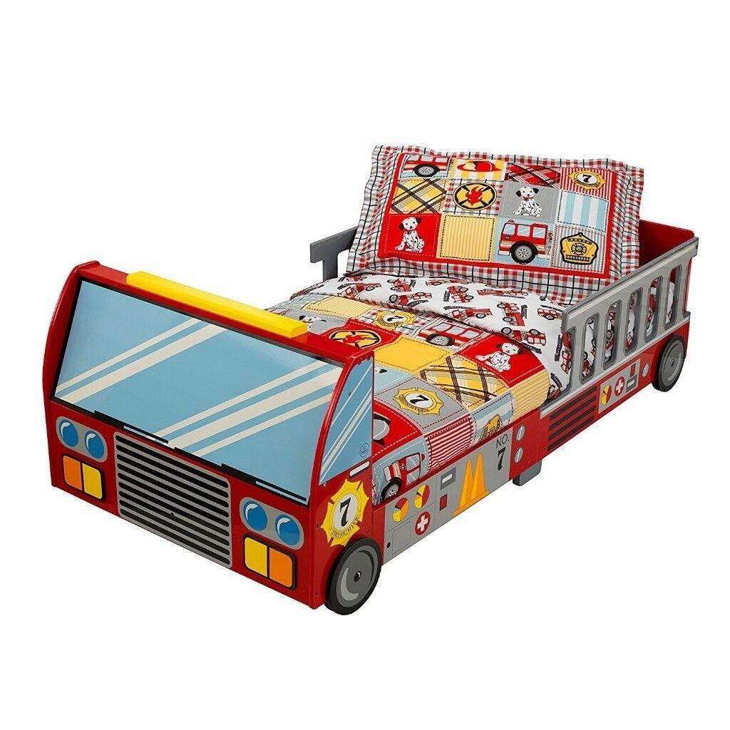 Bed Kidkraft Fire Brigade, with a mattress